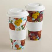 Autumnal Garden Non-Paper Cups, Set of 2