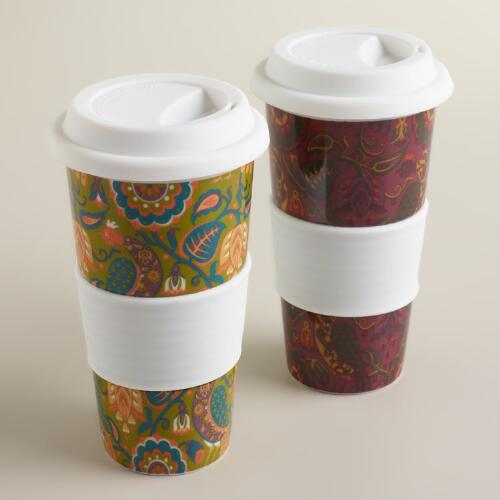 Folk Bird Non-Paper Cups, Set of 2