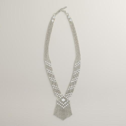Silver Tribal Chain Fringe Necklace