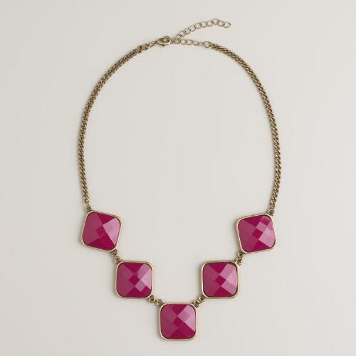 Berry 5-Stone Statement Necklace