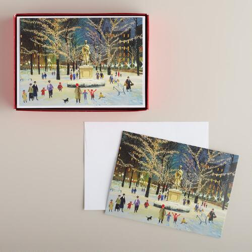 City Square Boxed Holiday Cards, Set of 15