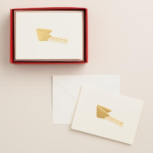 Petite Fortune Cookie Boxed Holiday Cards, Set of 12