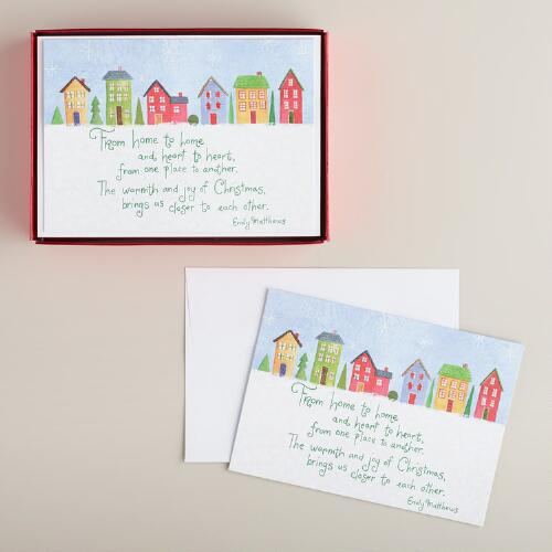 From Home to Home Boxed Holiday Cards, Set of 15