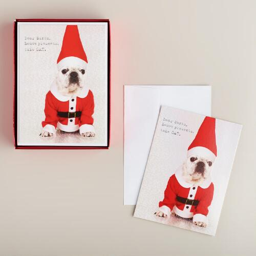 Dear Santa Boxed Holiday Cards, Set of 15