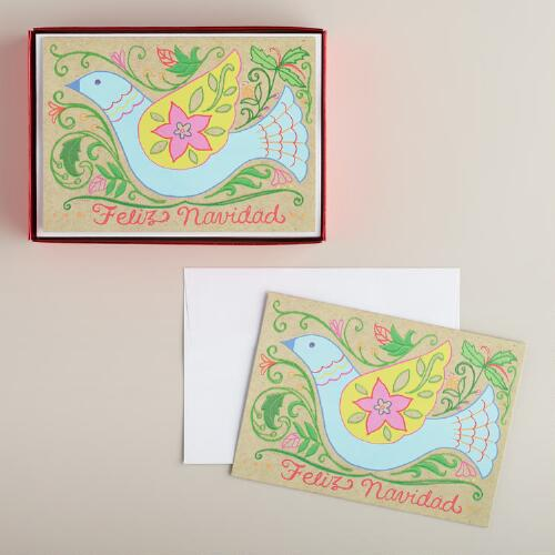 Feliz Navidad Boxed Holiday Cards, Set of 15