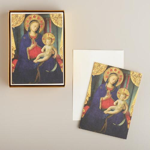 Maria and Baby Boxed Holiday Cards, Set of 15