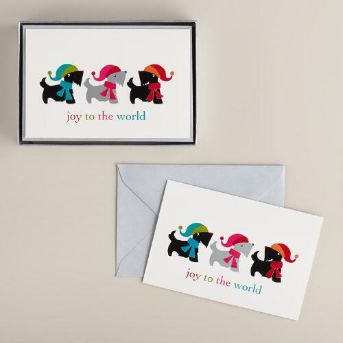 Scottie Dogs Boxed Holiday Cards, Set of 15