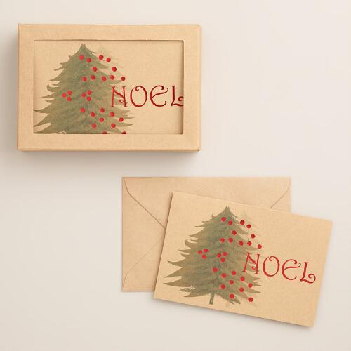 Noel Tree Boxed Holiday Cards, Set of 15