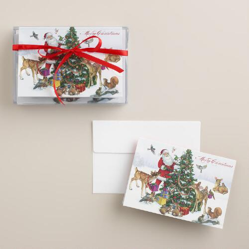 Tree Trimming Boxed Holiday Cards, Set of 8