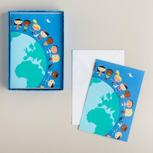 Children Around the World Boxed Holiday Cards, Set of 15