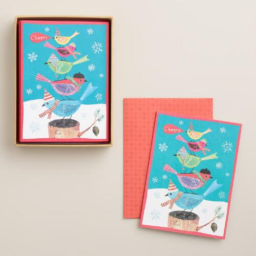 Cheers Boxed Holiday Cards, Set of 10