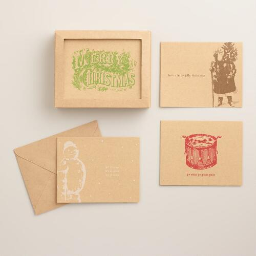 Victorian Icons Boxed Holiday Cards, Set of 16