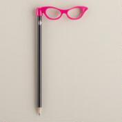 Pink Glasses Pencil Topper