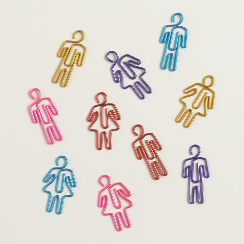 People-Shaped Paper Clips, 20-Pack