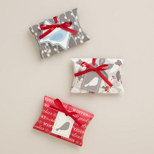 Snow Birds Gift Pouches, 3-Pack
