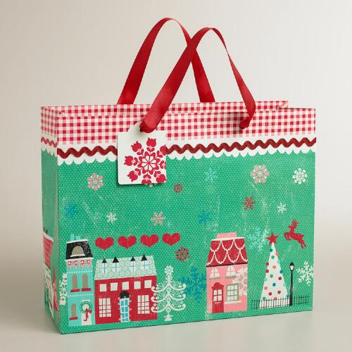 Large Nordic Houses Gift Bag