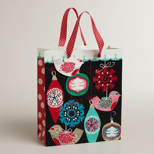 Medium Nordic Birds Gift Bag