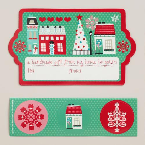 Nordic Gift Labels and Stickers, 24-Count