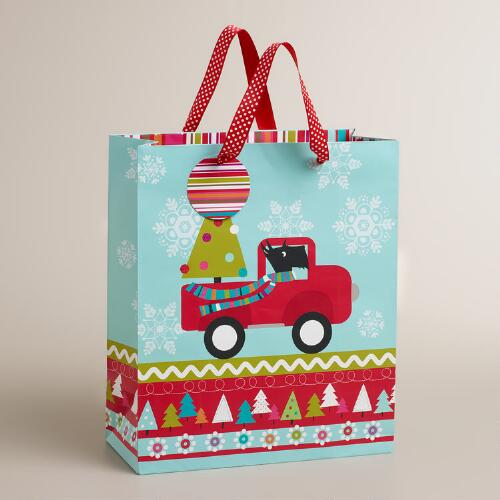 Large Scottie in Truck Gift Bag