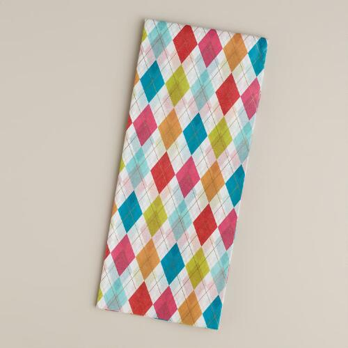 Argyle Scottie Tissue Paper