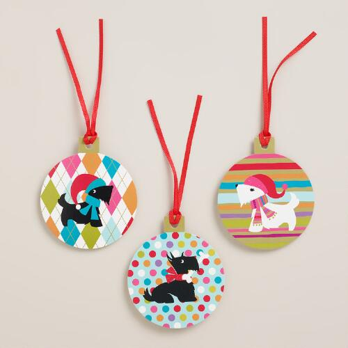 Scottie Gift Tags, Set of 6