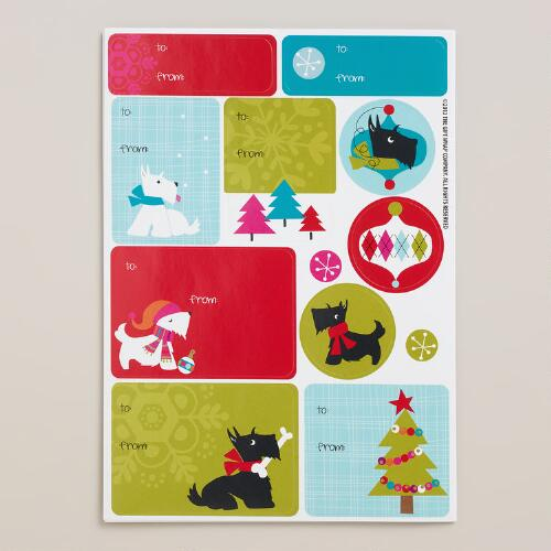Scottie Gift Labels and Stickers, 30-Count