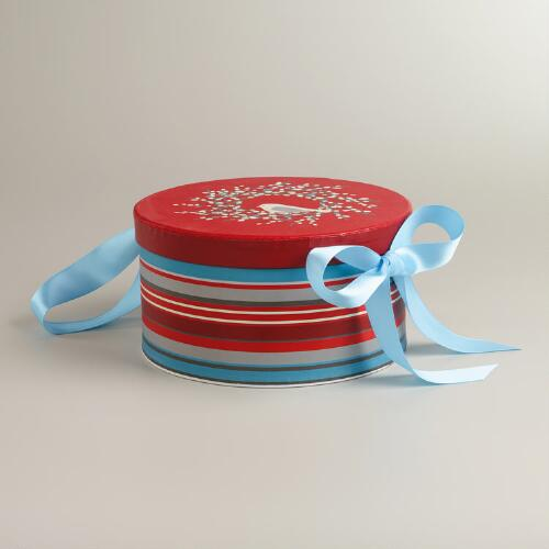 Large Round Snow Birds Gift Box