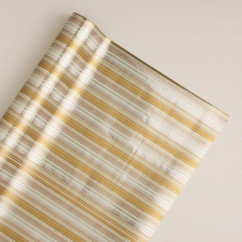 Snowy Stripe Single Gift Wrap Roll