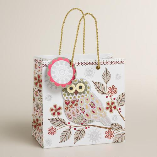 Small Snowy Owl Gift Bag