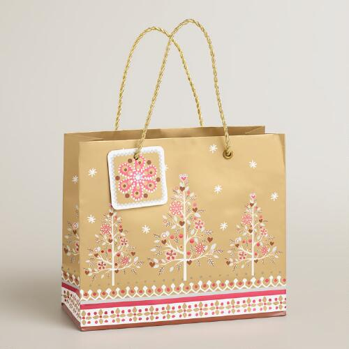Small Three Trees Gift Bag