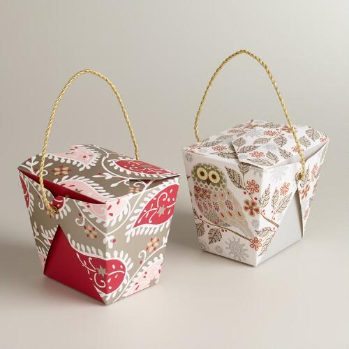 Medium Snowy Haven Takeout Boxes, Set of 6