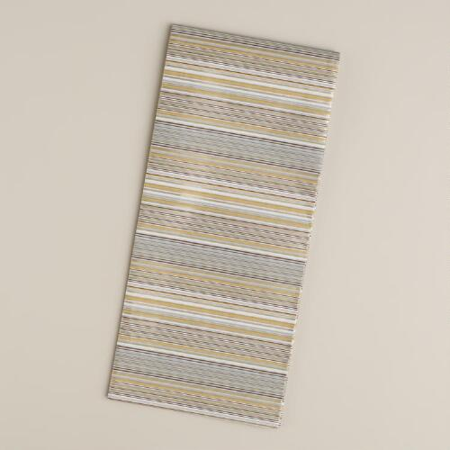 Gold and Silver Striped Tissue Paper