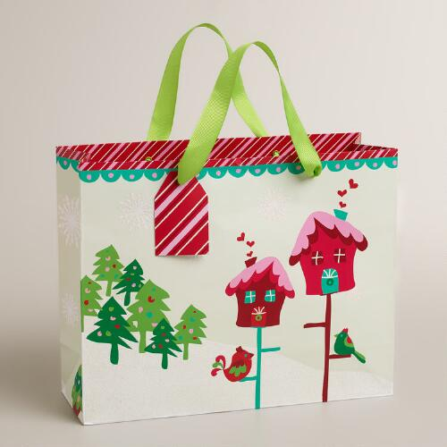 Medium Sweet Birdhouses Gift Bag