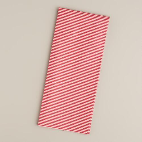 Red and White Stripe Tissue Paper