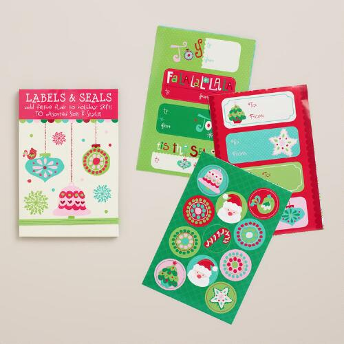Sweet Holidays Gift Labels and Seals, 110-Count