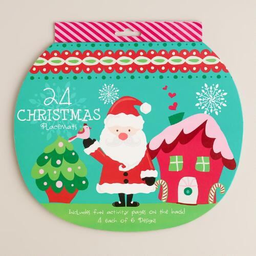 Sweet Holidays Paper Placemats, 24-Count