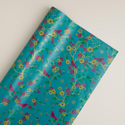 Blue Bird Single Gift Wrap Roll