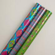 Travelers' Ornaments Gift Wrap Rolls, 3-Pack