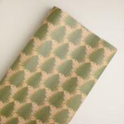 Christmas Trees Kraft Giftwrap