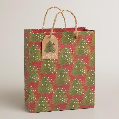 Medium Trees Kraft Gift Bag