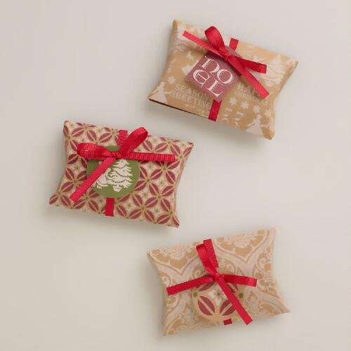 Victorian Kraft Gift Pouches, 3-Pack