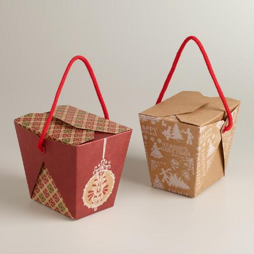 Medium Victorian Takeout Boxes, Set of 6