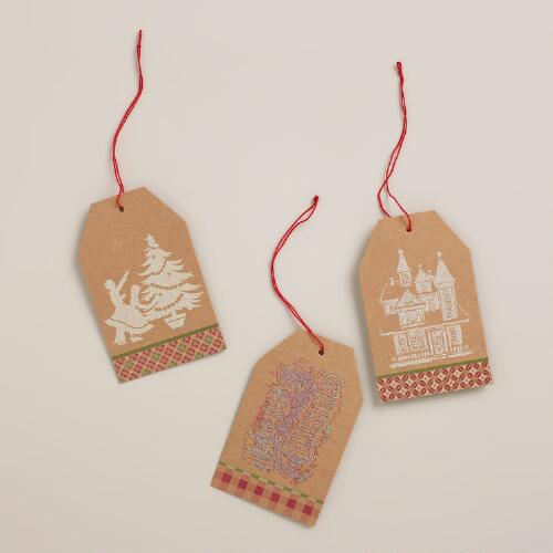 Victorian Kraft Gift Tags, Set of 6