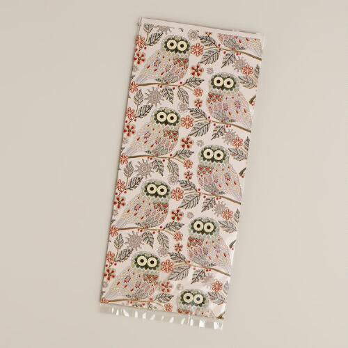 Snowy Owl Cellophane Bags, 8-Count