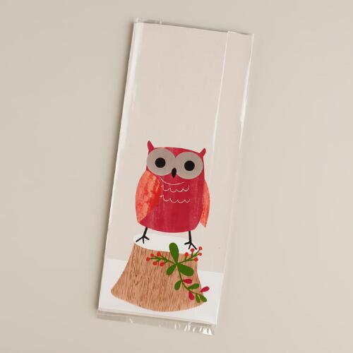 Woodland Owl Cellophane Bags,  8-Pack