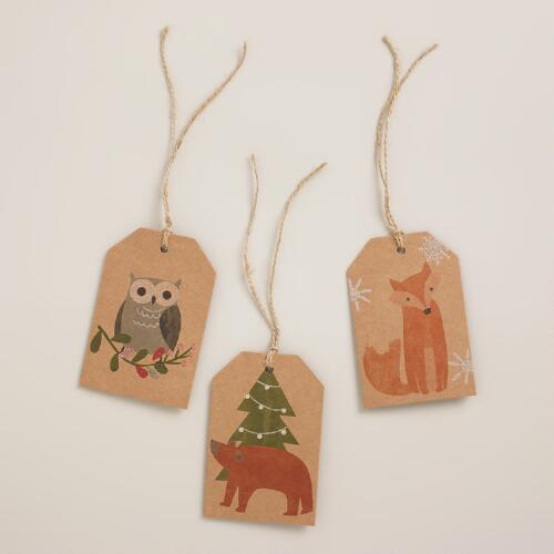 Woodland Animals Gift Tags, Set of 6