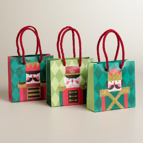 Mini Nutcracker Value Gift Bags, 3- Pack