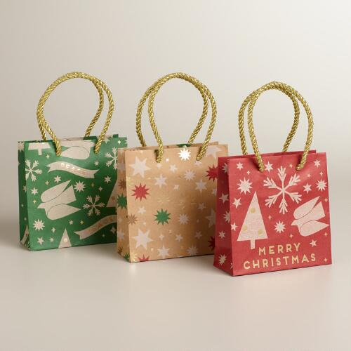 Mini Stars Kraft Value Gift Bags, 3-Pack