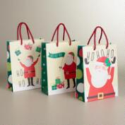 Medium Ho Ho Santa Value Gift Bags, 3-Pack