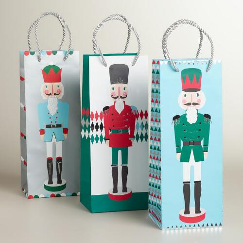 Nutcrackers Value Wine Bags, 3-Pack